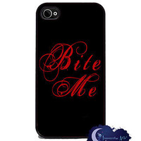 Bite Me iPhone 4 and 4s Slim Case, Cell Cover - Vampire, True Blood, Twilight