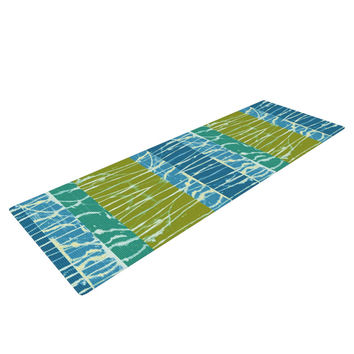 "Nina May ""Ocean Splatter"" Blue Teal Yoga Mat"