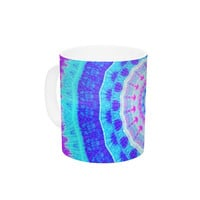 "Iris Lehnhardt ""Summer Colors"" Pink Blue Ceramic Coffee Mug"