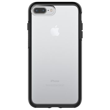 OtterBox SYMMETRY CLEAR SERIES Case for  iPhone 8 Plus & iPhone 7 Plus (ONLY) - Frustration Free Packaging - BLACK CRYSTAL (CLEAR/BLACK)