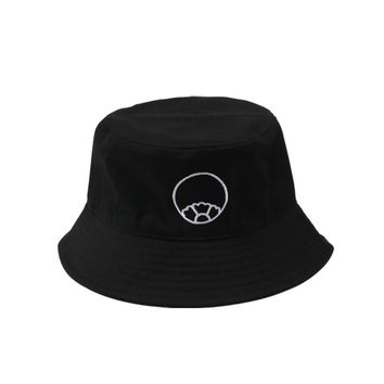 2018 Black Summer Bucket Hat Fishing Cotton  Bob Boonie Fisherman Hats Safari Bucket Cap Chapeu Femmes Sport Beach Sun Men Women