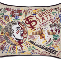 Florida State University Embroidered Pillow
