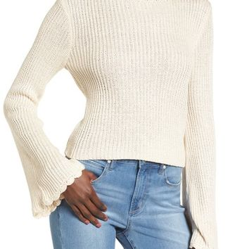 Leith Scallop Edge Sweater | Nordstrom