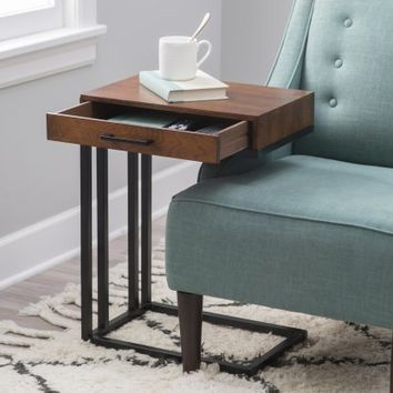 Drake C-Table with Drawer | Hayneedle