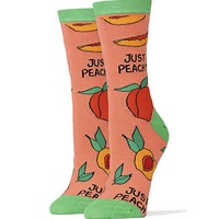 Oooh Yeah Socks Women Crew Cotton Just Peachy