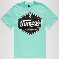Famous Stars & Straps Top Choice Mens T-Shirt Mint  In Sizes