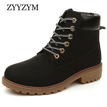 New Arrival Spring Autumn Boots Men PU Leather Unisex Style Fashion Male Work Shoes Lover Martin Boot