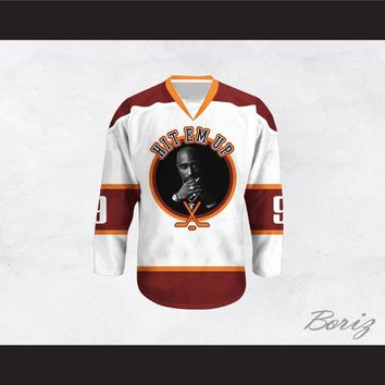 Tupac Shakur 9 Hit Em Up Hockey Jersey Design 1
