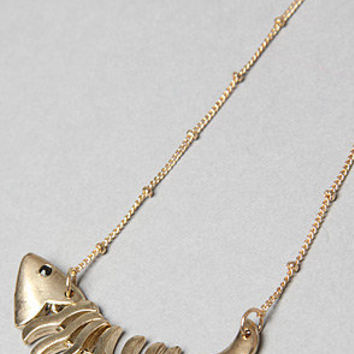 The fish bone necklace from karmaloop jewelry for Fish bone necklace