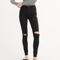 Womens High Rise Super Skinny Jeans | Womens Bottoms | Abercrombie.ca