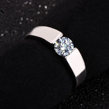 G4 Classic Engagement Ring plated rose Arrows AAA CZ Diamond Lovers Ring promise for men women free shipping