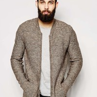 ASOS Knitted Bomber with Horizontal Ribs