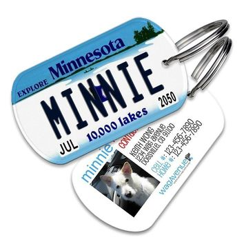 Minnesota License Plate Pet Tag