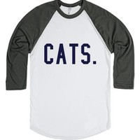 Cats.-Unisex White/Asphalt T-Shirt