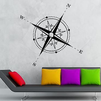 Wall Sticker Vinyl Decal Travel Geography Compass Windrose (ig1219)