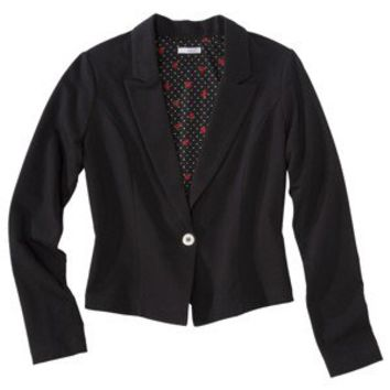 Xhilaration® Juniors Knit Blazer - Top Hat Black
