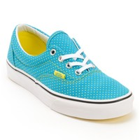 Vans Era Enamel Blue & Yellow Polka Dot Shoe