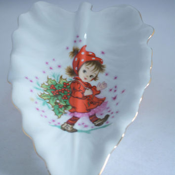 Lefton Christy Trinket Dish, Lefton China, Lefton Christmas, Lefton Candy Dish, Lefton Christy Candy Dish, Key Dish, Epsteam