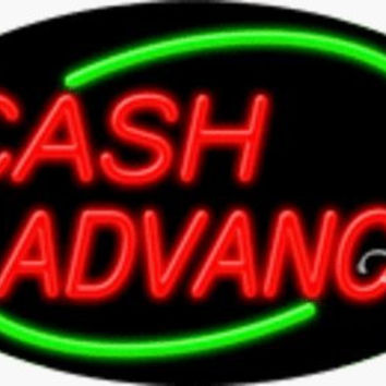 Cash Advance Handcrafted Energy Efficient Real Glasstube Flashing Neon Sign