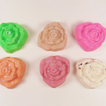 Rose bath bomb, bath bomb, bath bombs, party favors, wedding favors, bachelorette party favors, birthday gift, christmas gift, bath fizz