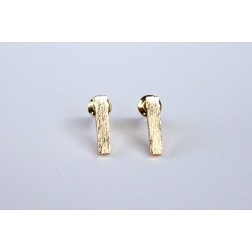 Slim Gold Bar Earrings