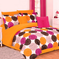 Girls Kids Bedding- Comforter Set- Jacky- Orange