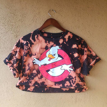 Vintage Ghostbusters Duck Crop Tee