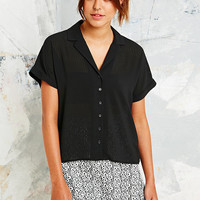 Cooperative Gingham Revere Blouse in Black - Urban Outfitters