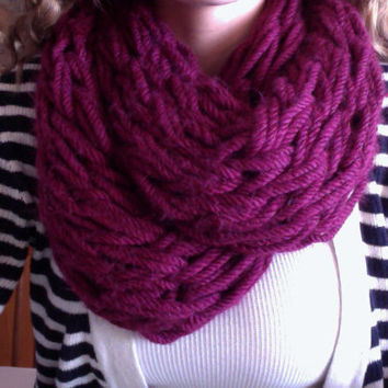 Arm Knit Bulky Scarf