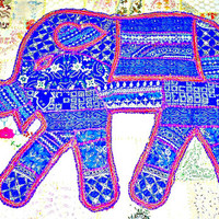 elephant tapestry, elephant wall hanging Indian wall hanging elephant wall art wall decor indian table cloth runner elephant wall decal