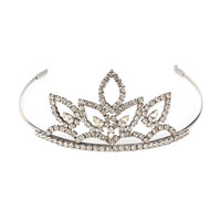 Saint Laurent Crystal Tiara Headpiece