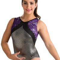 Aly Purple Chaos Sparkle Leotard from GK Elite