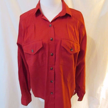 Panhandle Slim Western Women's Shirt XS Red Long Sleeve Pleated Front & Back