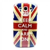 "ivencase Retro Keep Calm UK Hard Case Cover for Samsung Galaxy S 3 III S3 I9300 + One phone sticker + One ""ivencase"" Anti-dust Plug Stopper"