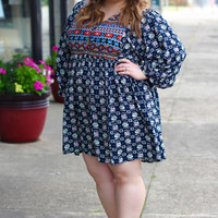 Mayan Tribe Tunic Dress {Curvy}