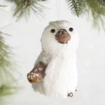 Gray Natural Penguin Ornament