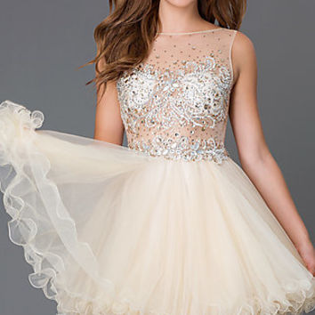 Dresses, Formal, Prom Dresses, Evening Wear: Short Baby Doll Homecoming Dress 6161