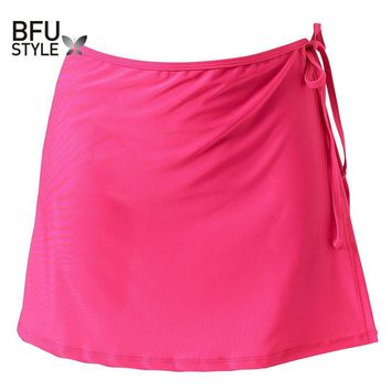 Scuba Saia Mix & Match Plain Colour Cute Beach Skirt Wrap Cover Up Separates 2017 Summer Women Mini Black Red Blue Skirts