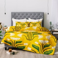 Stylised Daisies Comforter Raven Jumpo