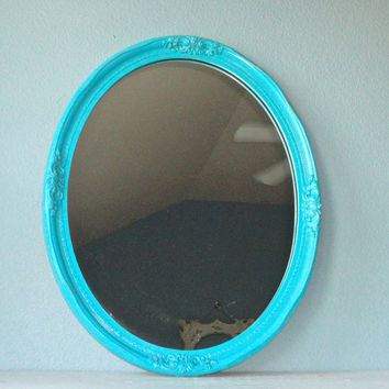 Large Ornate Turquoise Mirror