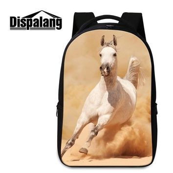 Boys bookbag trendy High Quality Animal Horse School Bags for College Horse Backpacks for Boys Teenager s Laptop Computer Bags for Youth AT_51_3