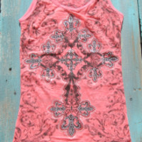 burn out rhinestone cross tank tops | Elusive Cowgirl