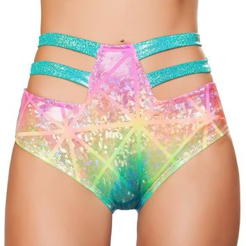 Strappy High Waisted Bottoms-Multi Color