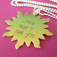Tangled Necklace - Now that I see You - Rapunzel Sun Necklace