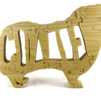 Collie Wood Jigsaw Puzzle Handcrafted From Poplar Wood by KevsKrafts