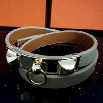 CREYUP0 Hermes Women Fashion Leather Bracelet Jewelry-7