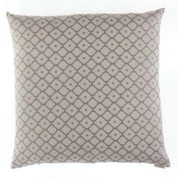 "24"" x 24"" Paragon diamond print pattern fabric throw pillow with a feather/down insert and zippered removable cover"