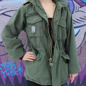 US Army M-65 Field Jacket Vintage Military Coat - Free US Shipping