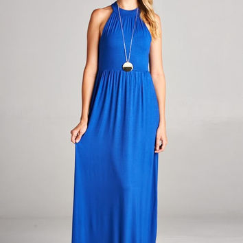 Jewel Neck Maxi Dress - 2 colors! (PREORDER)