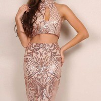 Danette Two Piece Sequin Outfit
